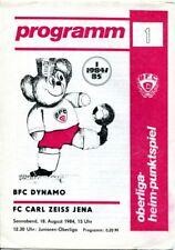 Programmheft, BFC Dynamo - FC Carl Zeiss Jena, Oberliga-Heim-Punktspiel 1984 /20