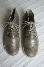 Semler Cris hoher Sneaker/Schnürer Beige-Metallic weiches Leder Gr.39 =5,5 H