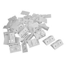 30pcs Shelf Cabinet 90 Degree Plastic Corner Braces Angle Brackets White ZH