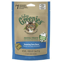 Greenies Feline Dental Treats Tempting Tuna Flavor 71G