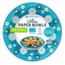 Member's Mark Ultra Paper Bowl, Microwaveable, Soak Proof  20 oz. 135 ct.