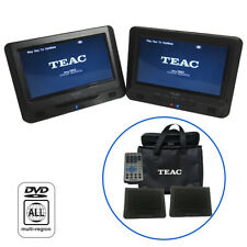 "TEAC Dual Universal Car Headrest Monitors | 9 "" DVD PLAYER Car Mount Multimedia"