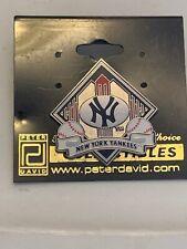 MLB LICENSED NEW YORK YANKEES BANNER PIN by Peter David