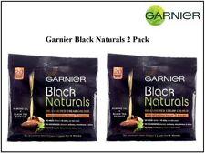 2 Pack Garnier Black Naturals Original Black Oil-Enriched Cream Hair Color
