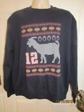 New~TOM BRADY~PATRIOTS~G.O.A.T.~Christmas Sweatshirt~L~Barstool~Champion Eco