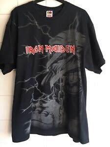 XL Iron Maiden 2008 Power Slave Mummy Eddie Rare Metal Vintage Rock Used 44-46""
