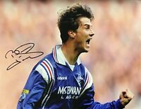 """BRIAN LAUDRUP SIGNED GLASGOW RANGERS 16""""x12"""" FOOTBALL PHOTO WITH PROOF & COA"""
