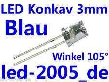 30 x LED Konkav Blau 3mm 475nm,LED Concave 3mm Blau,Blue,Blu,Blauwe,Azul,