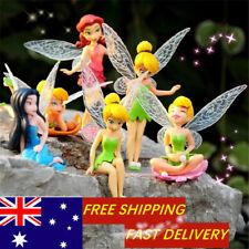 6Pcs Miniature Pixie Flower Fairy Figurine Dollhouse Beautiful Garden Decor ..