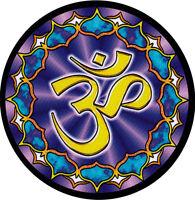 Lotus Om - Small Om Symbol Bumper Sticker / Decal