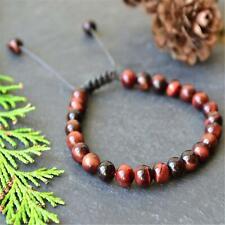 Fashion Red Tigers Eye 108 Beads Handmade Tassel Bracelet Bangle Buddhism Japa