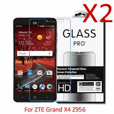 2X 9H Premium Tempered Glass Screen Protector Film For ZTE Grand X4 Z956