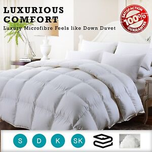 100% Organic Microfiber Feels Like Down Duvet Luxury All Season Togs And Sizes