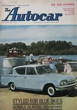 Autocar magazine 22/9/1961 featuring Singer Vogue road test, Mini Cooper, VW