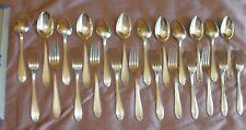DIXI : 12 fourchettes & cuillères de ménagère art déco en métal argenté - 100 Gr