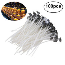 12x 8mm x 90mm Candle Wood Wick with Sustainer Tab Candle Making Supply Js