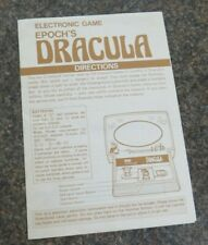 INSTRUCTION MANUAL ENGLISH DRACULA 100% ORIGINAL 1982 FOR EPOCH GAME RETRO