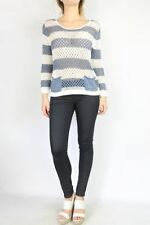 Cotton Long Sleeve Striped Tops & Blouses for Women