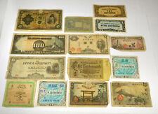 World War II International Paper Money Lot- 14 Notes