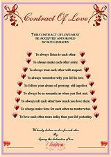 Contract Of Love (A4 100gms cream laid paper)