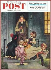 "Halloween Poster 1951 Post Magazine Cover 11""X15"" Beautiful Reproduction!"