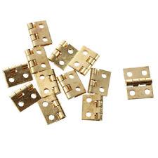 12XMini Charnieres pour 1/12 Armoire Placard Miniature Maisons Poupees or H4S4