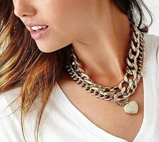 Guess Gold Necklace Heart Charm