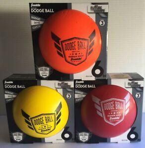 "Franklin Sports 6"" Superskin Dodgeball Indoor & Outdoor *NEW* lot of (3)"