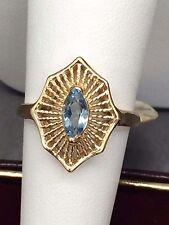 """""""March Birthstone"""" Aquamarine Ring (14k)"""