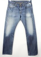 Replay Hommes Slim Jeans Jambe Droite Taille W34 L34 AVZ113