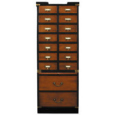 """Collectors Cabinet, Drawers 57"""" Nautical Collection Collectibles Storage"""