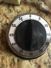 kitchen timer round silver with black