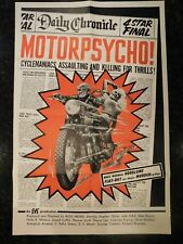 "MOTOR PSYCHO Original 1965 Movie Poster, 27"" x 41"", C8.5 Very Fine to Near Mint,"