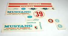 #39 Shelby Mustang Powered by Cobra Model Car Decals 1/24 Water Slide Vintage