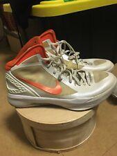 NIKE Zoom Hyperdunk Flywire Men Size 13 Basketball Shoes Orange/white 454-143101