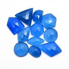 Natural Blue Onyx Loose 8x12mm-14x21mm Uneven Rose Cuts Cabochons Mix Lot