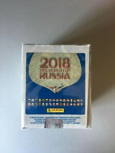FIFA World Cup 2018 PANINI Box of 50 packs 250 stickers red backs brand new