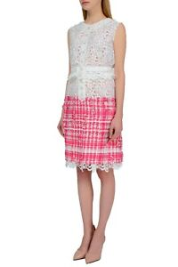 Chanel Women Pink White Suit Top Skirt FR 38 US 6 IT 42 UK 10