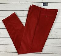 "Polo Ralph Lauren Red Preppy Fit Stretch Cords - Jeans Size 36"" W & 35"" L"