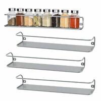 4 Tiers Kitchen Spice Rack Organizer Storage Shelf Pantry Wall Hanging Holder