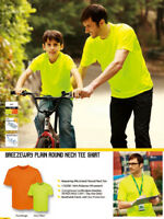 Unisex Adults Hi-Vis Plain Round Neck Safety Tee Shirt with Moisture Wicking