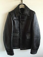 MENS BURBERRY PRORSUM AW13 DONKEY JACKET LAMINATED COTTON PATENT SIZE 50 COAT