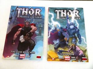 Thor the God of Thunder Vol 1 & 2  Marvel Now The god butcher  godbomb Hardcover