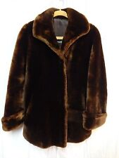 Vintage Midcentury BEAU MOUTON Jacques Heim Sheared Lamb Fur Swing Coat Small