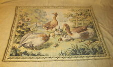 Old or Antique Tapestry with Ducks & Geese