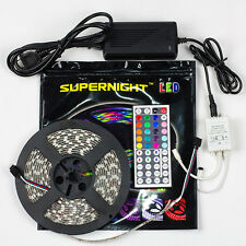 SUPERNIGHT® 5050 SMD 300LED 5M RGB Waterproof Light Strip + 44key Remote + Power