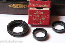 Leica Close Up Kit Vorsatzlinse Leitz Elpet Elmar 5cm Stand Legs #2 #3 - USED E1