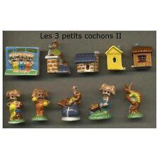 Série complète de 10 fèves Les 3 petits cochons II