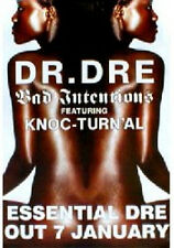 Poster Dr DRE - Bad Intensions - Promo  NEU (13010)