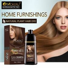Hair Dye Color Shampoo Permanent Hair Colour New Natural Cover White Gray All Ty
